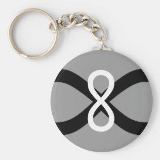 Porte-clés Porte - clé de Black&White d'infini
