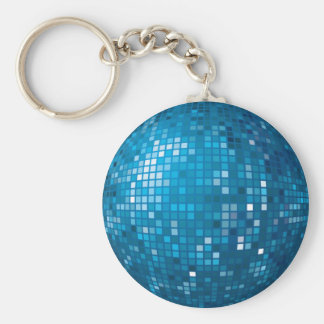Porte-clés Porte - clé de bleu de boule de disco