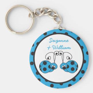 Porte-clés Porte - clé de bleu de couples de coccinelle