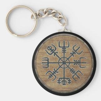 Porte-clés Porte - clé de bouclier de Viking - Vegvisir