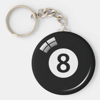 Porte-clés Porte - clé de boule de piscine de magie du numéro