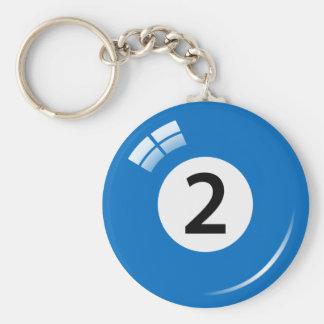 Porte-clés Porte - clé de boule de piscine du numéro deux