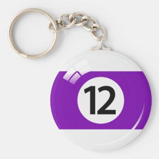 Porte-clés Porte - clé de boule de piscine du numéro douze