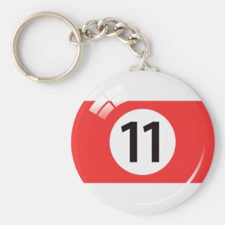 Porte-clés Porte - clé de boule de piscine du numéro onze