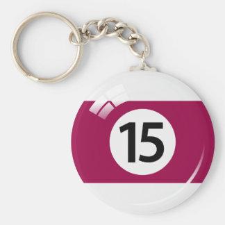 Porte-clés Porte - clé de boule de piscine du numéro quinze