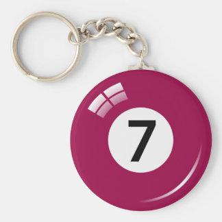 Porte-clés Porte - clé de boule de piscine du numéro sept