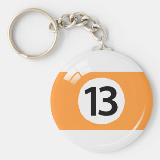 Porte-clés Porte - clé de boule de piscine du numéro treize