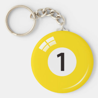 Porte-clés Porte - clé de boule de piscine du numéro un