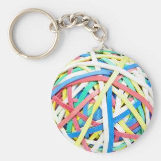 Porte-clés Porte - clé de boule de Ruberbands