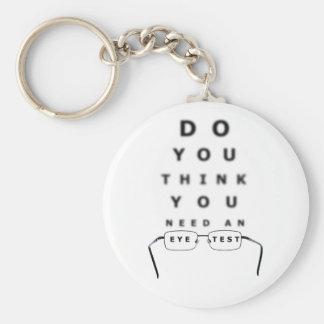 Porte-clés Porte - clé de bouton de diagramme d'essai d'oeil
