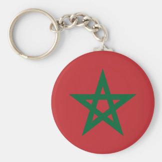 Porte-clés Porte - clé de bouton de drapeau du Maroc