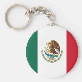 Porte-clés Porte - clé de bouton de drapeau du Mexique