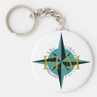 Porte-clés Porte - clé de bouton de logo d'ORME