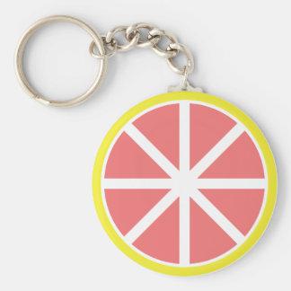 Porte-clés Porte - clé de bouton de tranche de pamplemousse