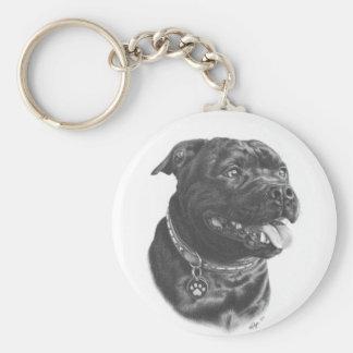 Porte-clés Porte - clé de bull-terrier du Staffordshire