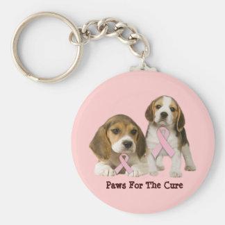 Porte-clés Porte - clé de cancer du sein de beagle