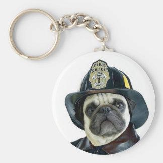 Porte-clés Porte - clé de carlin de pompier