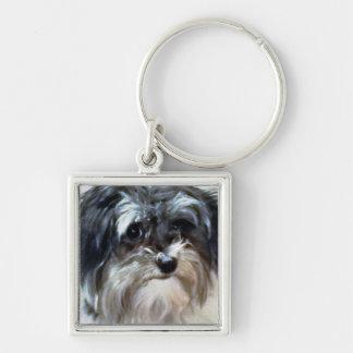 Porte-clés Porte - clé de carré de prime de chien de Havanese