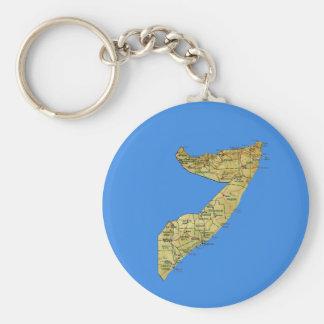 Porte-clés Porte - clé de carte de la Somalie