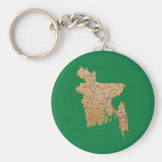 Porte-clés Porte - clé de carte du Bangladesh