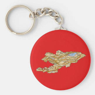 Porte-clés Porte - clé de carte du Kirghizistan