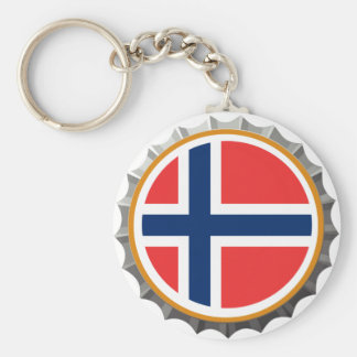 Porte-clés Porte - clé de casquette de bière de la Norvège