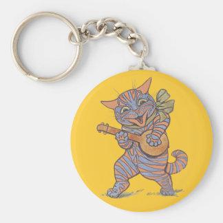 Porte-clés Porte - clé de chat de banjo