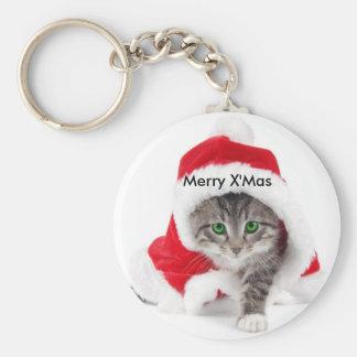 Porte-clés Porte - clé de chat de Noël