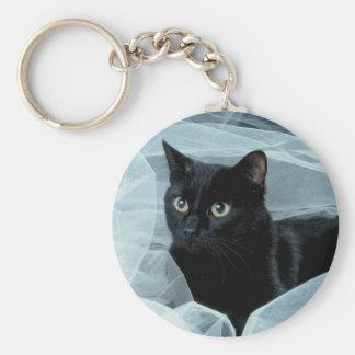 Porte-clés Porte - clé de chat noir