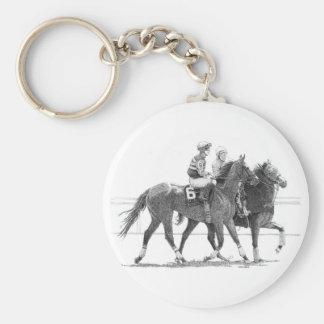 Porte-clés Porte - clé de cheval de course