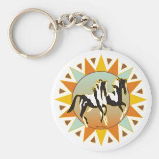 Porte-clés Porte - clé de cheval de peinture d'étoile de