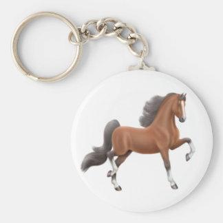 Porte-clés Porte - clé de cheval de Saddlebred de baie