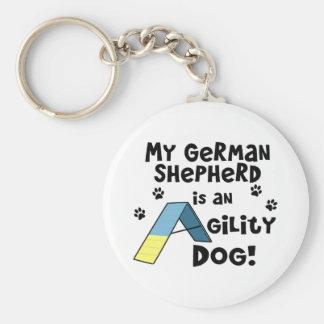 Porte-clés Porte - clé de chien d'agilité de berger allemand