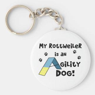 Porte-clés Porte - clé de chien d'agilité de rottweiler