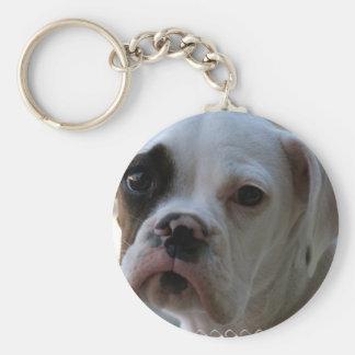 Porte-clés Porte - clé de chien de boxeur observé par noir