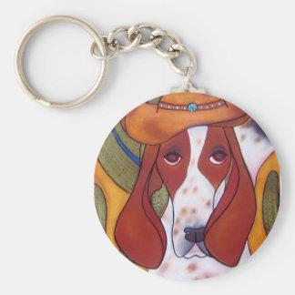 Porte-clés porte - clé de chien de désert de Bungalowart.com