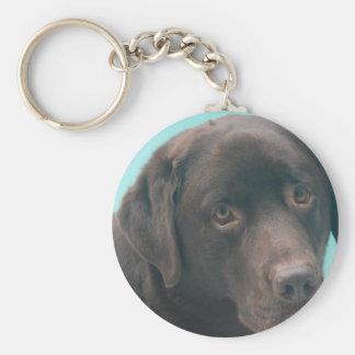 Porte-clés Porte - clé de chien de laboratoire de chocolat