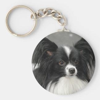 Porte-clés Porte - clé de chien de Papillon