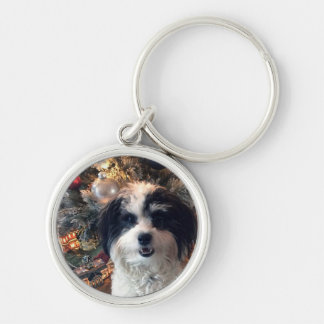 Porte-clés Porte - clé de chien, Noël rond K-ECO