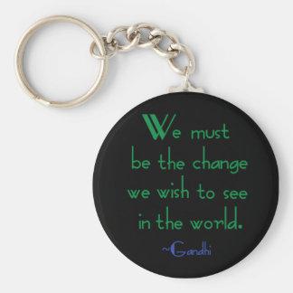 Porte-clés Porte - clé de citation de Gandhi