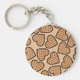 Porte-clés Porte - clé de coeurs de girafe