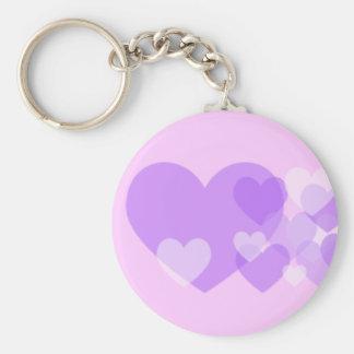 Porte-clés Porte - clé de coeurs pourpres