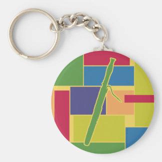Porte-clés Porte - clé de Colorblocks de basson