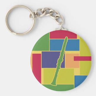 Porte-clés Porte - clé de Colorblocks de clarinette