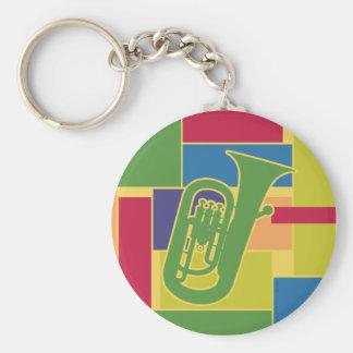 Porte-clés Porte - clé de Colorblocks d'euphonium