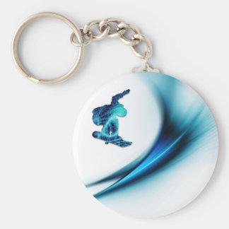 Porte-clés Porte - clé de conception de surf des neiges