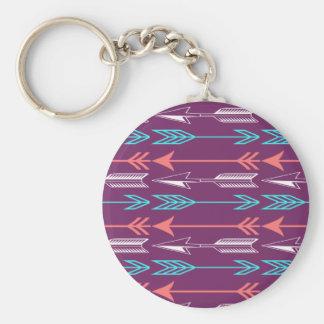 Porte-clés Porte - clé de corail et turquoise de flèches de
