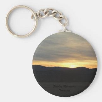 Porte-clés Porte - clé de coucher du soleil de montagne de