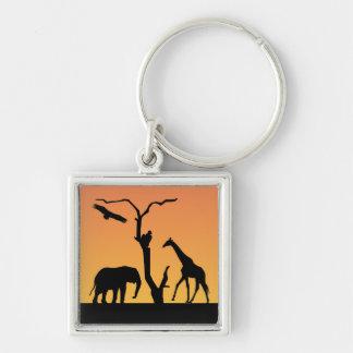Porte-clés Porte - clé de coucher du soleil de silhouette