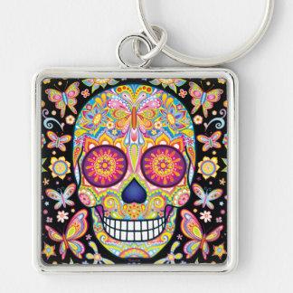 Porte-clés Porte - clé de crâne de sucre - jour de l'art mort